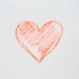 Het hart van de schets Stock Fotografie