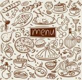 De schets van het voedsel Stock Foto's