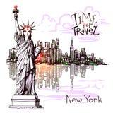 De schets van New York Stock Foto