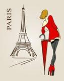 De schets van Parijs Stock Foto's