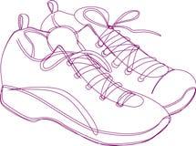 De Schets van tennisschoenen Royalty-vrije Stock Foto