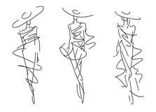 De schetsmanier stelt vector illustratie
