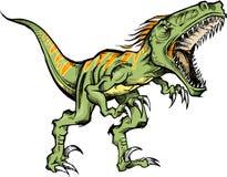 De schetsmatige dinosaurus van de Roofvogel Stock Afbeelding
