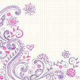 De schetsmatige Krabbels van het Notitieboekje op Millimeterpapier vector illustratie