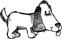 De schetsmatige VectorIllustratie van de Hond Stock Afbeeldingen