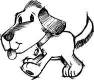 De schetsmatige VectorIllustratie van de Hond Royalty-vrije Stock Afbeelding