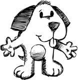 De schetsmatige VectorIllustratie van de Hond Royalty-vrije Stock Afbeeldingen