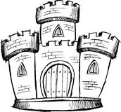 De schetsmatige VectorIllustratie van het Kasteel Royalty-vrije Stock Fotografie