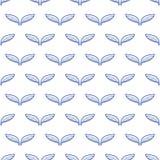 De schetspatroon van engelen wit vleugels royalty-vrije illustratie