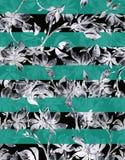 De schetsreeks van de bloemwaterverf Royalty-vrije Stock Fotografie