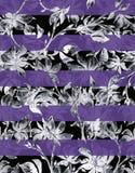 De schetsreeks van de bloemwaterverf Royalty-vrije Stock Afbeelding