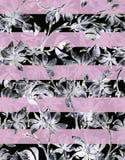 De schetsreeks van de bloemwaterverf Stock Fotografie