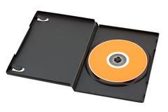 De schijf van DVD of CD in geopende doos Stock Foto's