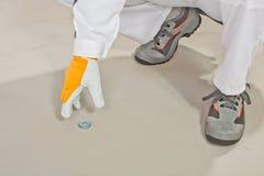De schijf van het metaal voor maatregel van vloer Stock Afbeeldingen
