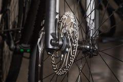 De schijfrem van het fiets voorwiel Royalty-vrije Stock Afbeeldingen