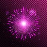 De schijnwerper isoleerde roze Royalty-vrije Stock Afbeeldingen