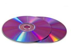 De schijven van Dvd op wit royalty-vrije stock foto's