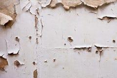 De schil van de verf van pleister wal Stock Foto
