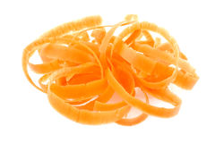De schil van de wortel stock afbeeldingen