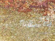 De schil van de verf van muur stock afbeelding