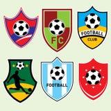 De Schilden van de voetbal Stock Afbeeldingen