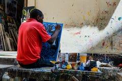 De schilder stock afbeelding