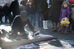 De schilder van de straat Stock Fotografie