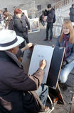 De schilder van de straat Royalty-vrije Stock Fotografie