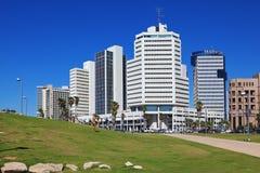 De schilderachtige promenade van Tel Aviv in zonnige dag Stock Fotografie