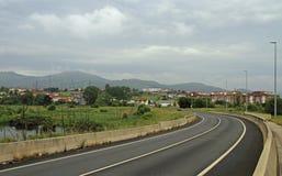 De schilderachtige weg in Spaans gebied Cantabrië Stock Afbeelding