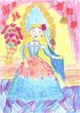 De schilderende mooie meisjes van het kind Royalty-vrije Stock Afbeeldingen