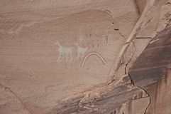 De Schilderijen van de Rots van Navajo Royalty-vrije Stock Afbeelding