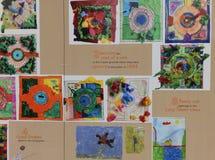 De schilderijen van kinderen van Lincoln Castle Royalty-vrije Stock Afbeelding