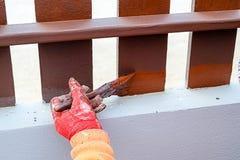 De schilders is geschilderde houten Stock Foto