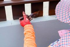De schilders is geschilderde houten Royalty-vrije Stock Fotografie