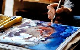 De schilders overhandigen royalty-vrije stock afbeelding