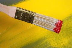 De schildersborstel van de kunstenaar Royalty-vrije Stock Afbeeldingen