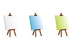 De schildersezel van de kleur Stock Illustratie