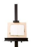De schildersezel van de schilder van het aluminium die op wit wordt geïsoleerdh royalty-vrije stock afbeelding