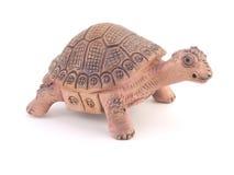 De schildpadbeeldje van de klei Stock Afbeeldingen