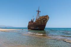 De schipbreuk van Dimitrios stock afbeeldingen