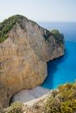 De Schipbreuk van Navagio Paradijsstrand op Zakynthos Royalty-vrije Stock Fotografie