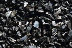 De schittering van steenkool is antraciet stock foto