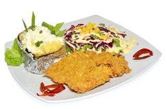 De schnitzel met versiert Stock Fotografie