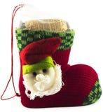De schoen van de Kerstman Stock Fotografie