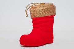 De Schoen van de kerstman op witte achtergrond Royalty-vrije Stock Afbeelding