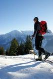 De schoen van de sneeuw wandeling Stock Foto