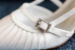 De schoen van het huwelijk Stock Afbeeldingen