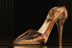 De schoen van het vrouwenglas Stock Afbeelding