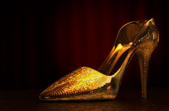 De schoen van het vrouwenglas Stock Foto's